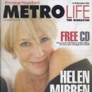 Helen Mirren - Metro Life Magazine Cover [United Kingdom] (14 November 2003)