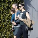 Anne Hathaway – Out with her family in Los Angeles - 454 x 681