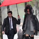 Adriana Lima going to a business meeting in New York City