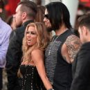 Carmen Electra and her ex-husband Dave Navarro 6th Annual Revolver Golden Gods award show,Los Angeles on April 23,2014