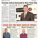 New York Celebrity, Michael de la Force, featured in hometown newpaper, Coweta American