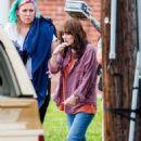 Winona Ryder – On set for 'Stranger Things' in Atlanta
