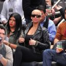 Amber Rose Supporting Boyfriend Amar'e Stoudemire at The Boston Celtics Vs New York Knicks Game at Madison Square Garden in New York City - December 15, 2010 - 438 x 600