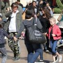 Rebecca Gayheart and her daughter Billie and Georgia are spotted out shopping at The Grove in Los Angeles, California on March 31, 2016 - 454 x 486