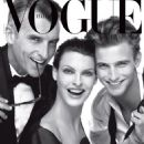 Linda Evangelista, John Pearson, RJ King - Vogue Magazine Cover [Italy] (4 July 2013)