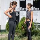 Cindy Crawford and Kaia Gerber – Leaving the gym in New York City