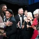 Helen Mirren and Jason Momoa At The 91st Annual Academy Awards - Backstage - 454 x 303