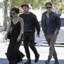 Vanessa Hudgens and Austin Butler heading to the Fifth Church of Christ Scientist in Hollywood (March 30)