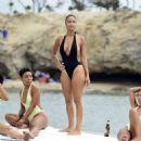 Draya Michele in Black Swimsuiti in Newport Beach - 454 x 467