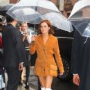 Zoey Deutch seen arriving at the Coach 2020 New York Fashion Week