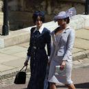 Priyanka Chopra and  Abigail Spencer :  Prince Harry Marries Ms. Meghan Markle - Windsor Castle - 413 x 600