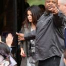 Selena Gomez showed up at KissFM 108 in Boston, Massachusetts this morning (May 10)