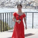 Selena Gomez in Red Long Dress out for a walk in Malibu - 454 x 679