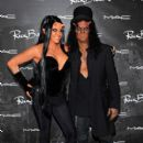 Slash & Perla Hudson attend MAC Cosmetics & Rick Baker's Monster Mash on October 19th, 2013 in Glendale, CA