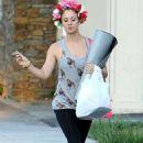 Kaley Cuoco Leaving Yoga Class In La