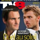 Roger Federer, Stanislas Wawrinka - TV 8 Magazine Cover [Switzerland] (10 January 2015)