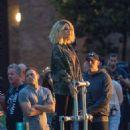 Kate Beckinsale – On the set of 'Jolt' in London