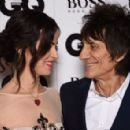 Ronnie Wood and wife Sally Humphreys attend the GQ Men Of The Year Awards at The Royal Opera House on September 8, 2015 in London, England.