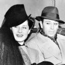 Norma Shearer and George Raft at Santa Anita Racetrack, Calif., 1940 - 392 x 400