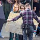 Brie Larson – Wears Suits up as Captain Marvel on set in Los Angeles