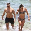 Nina Agdal in Bikini at the beach in Miami