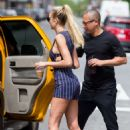 Candice Swanepoel hails a cab in New York City - 454 x 681