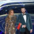 Jennifer Lopez and Chris Evans At The 91st Annual Academy Awards - Show - 338 x 600