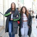 Gina Rodriguez and Rosario Dawson – On the 'Someone Great' set in NY - 454 x 607