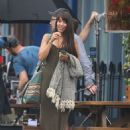 Oona Chaplin on the set of 'My Dinner With Herve' in London