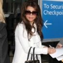 Paula Abdul arriving on a flight at LAX airport in Los Angeles, California on January 12, 2015