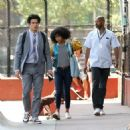 Yara Shahidi and Charles Melton – Filming 'The Sun Is Also A Star' in Chinatown