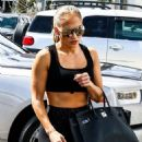 Jennifer Lopez – Heads to the gym in Miami