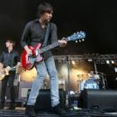 Nic Cester of Jet performs on stage during the 2010 Big Day out Auckland