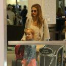 Jessica Alba arrives at LAX  (August 13, 2017)