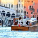 Picking up where they left off? Lewis Hamilton and Barbara Palvin re-ignite romance rumours as they enjoy cosy boat ride together in Venice