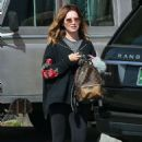 Ashley Tisdale in Black Leggings Out in Los Angeles - 454 x 687