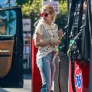 Emma Roberts at a gas station in Los Feliz