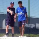 Neymar steps up recovery from injury as Brazil and PSG star shows off his ball skills using healing right foot before physical gym session