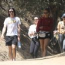 Selena Gomez – Takes new puppy for a hike with friends in Los Angeles