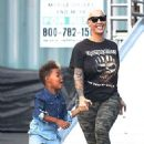 Amber Rose and Sebastian Supporting 21 Savage on the Set of Jimmy Kimmel Live in Hollywood, California - September 12, 2017 - 454 x 681