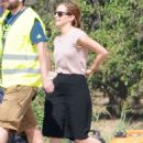 Emma Watson Filming The Circle In Pasadena