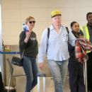 Kirsten Dunst with Jesse Plemons at LAX Airport in Los Angeles - 454 x 605