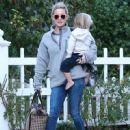 Hudson and her son Bingham Bellamy spend the day with Kurt Russell and Wyatt Russell at her brother Olivier Hudson's house in Brentwood, California on January 4, 2014
