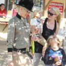 Gwen Stefani and her sons Kingston and Zuma spend the day at the park in Ventura, Ca on May 26, 2012