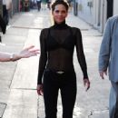 Halle Berry Arrives At Jimmy Kimmel Live In Hollywood