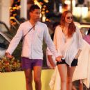 Lily Cole and Enrique Murciano  in St. Barthelemy - January 1, 2009 - 454 x 606