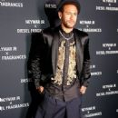 Neymar smoulders in a sleek black blazer, matching shorts and a gold-embellished shirt as he launches new Diesel fragrance - 454 x 783