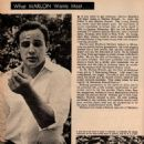 Marlon Brando - Movie World Magazine Pictorial [United States] (December 1955)