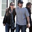 Christian Bale and Sibi Blazic: Lunch Lovers