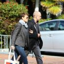 Ben Foster and Robin Wright making then first christmas shopping at Fred Segal in Santa Monica